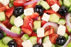 Close up of greek salad. Stock Photo