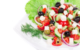 Close up of greek salad. Stock Photos