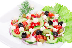 Close up of greek salad. Royalty Free Stock Image