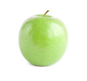 Close-up of green apple isolated. On white Stock Image
