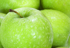 Close up on green apples Stock Photos