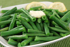 Close up of green beans. Close up shot of fresh green beans royalty free stock images