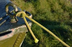 Close up of green boat bow Stock Image