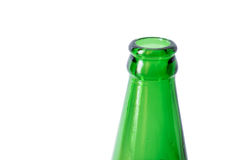 Close-up green bottleneck, isolated on white background Stock Photo