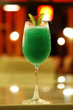Close up green cocktail from lemon Royalty Free Stock Photos