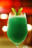 Close up green cocktail from lemon Royalty Free Stock Images