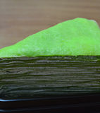 Close up Green Crepe Cake Stock Photos
