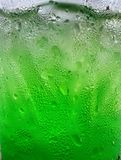 Close up of green drinks Royalty Free Stock Photo
