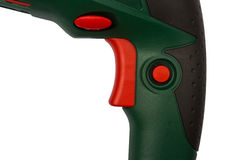 Close up of green electric drill Royalty Free Stock Photography