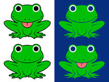 Close-up of green frog masks over white background Royalty Free Stock Photo