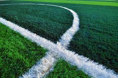Close up green grass for soccer sport, Royalty Free Stock Images