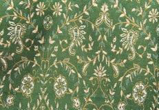 Kashmir shawl-1. Close-up of green kashmir shawl stock photo