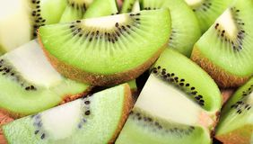 Close up green kiwi fruit background texture Royalty Free Stock Photography
