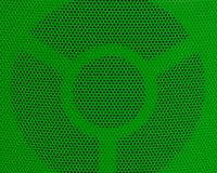 Close Up of Green Metal Grid Texture Background Royalty Free Stock Image