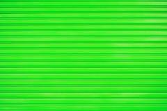 Close up green metal sheet slide door texture background. Stock Photography