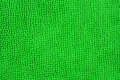 Close up of a green microfiber cloth Royalty Free Stock Photography