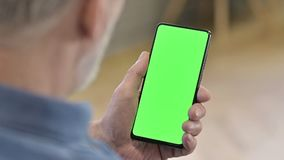 Close Up of Green Mock-up Screen Smartphone
