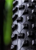 Close-up of a green mountain bike Royalty Free Stock Photo