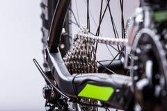Close-up of a green mountain bike Stock Photos