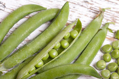 Close up green peas Royalty Free Stock Images