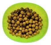 Close up green peas Stock Image