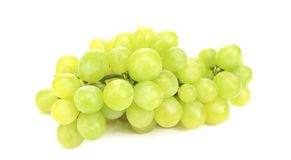 Close up of green ripe grapes. Stock Photos