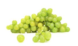 Close up of green ripe grapes. Royalty Free Stock Photos