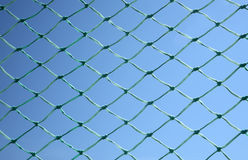 Close up of a green soccer net Stock Photo