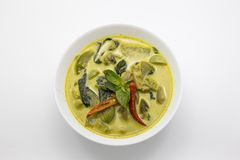 Curry green spicy chicken thai food Stock Photos