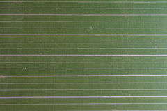 Close up of a green, striped chalkboard royalty free stock photo