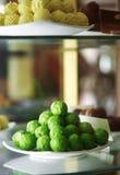 Close up green tea chocolate ball Stock Image