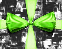 Close-up on a green tied knot stock illustration