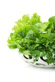 Close up of green vegetables in white bowl Stock Photography