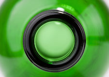 Close-up of green wine bottle Stock Photo
