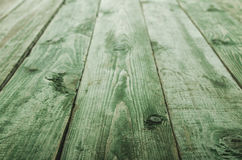 Close up green wooden table in perspective Stock Image