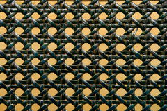 Close-up of green woven rattan pattern Stock Photo