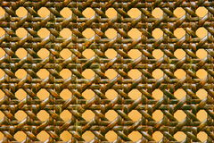 Close-up of green woven rattan pattern Stock Images