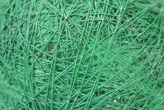 Close up of green yarn. Stock Image