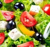 Close up grego da salada fotografia de stock