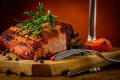 Close up grelhado do bife Imagens de Stock