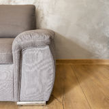 Close up of grey armchair Royalty Free Stock Images