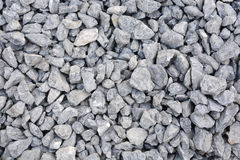 Close up grey granite gravel background. For mix concrete in construction industrial Stock Images