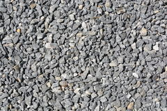 Close up grey granite gravel background. For mix concrete in construction industrial Royalty Free Stock Image