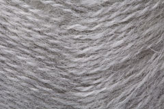 Close-up of grey knitting ball Royalty Free Stock Images