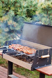 Close up grill with barbecue Stock Photo