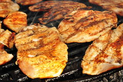Close up of a grilled chicken breast Royalty Free Stock Photography