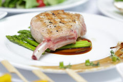 Close up Grilled Pork chop Stock Photo
