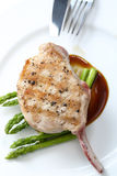 Close up Grilled Pork chop Stock Photography
