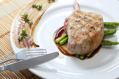 Close up Grilled Pork chop Stock Image