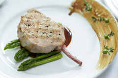 Close up Grilled Pork chop Stock Images